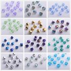 10/72pcs Faceted Glass Crystal Charm Finding Helix/Twist Loose Spacer Beads 10mm
