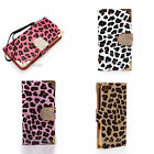Luxury Leopard  Flip Case Cover Skins For Iphone5c PU Leather  With Buckle New