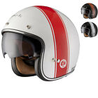 LIMITED EDITION BLACK STRIPE RETRO CLASSIC SCOOTER CITY URBAN MOTORCYCLE HELMET