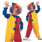 CK232 Child Clown Jester Kids Circus Boys Girls Book Week Fancy Dress Costume