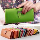 Fashion Womens Faux Leather Bifold Card Holder Clutch Bag Wallet Hasp Purse