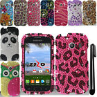 For Samsung Galaxy Ace Style S765C DIAMOND BLING HARD Case Cover Phone + Pen