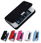 Magnetic Flip Leather Hard Skin Pouch Wallet Case Cover For Apple iPhone 5S
