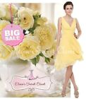 BNWT MIA Yellow Chiffon Bridesmaid Evening Wedding Races Dress UK 6 - 18