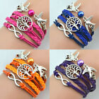 Hot sell Unsexi  Tree DIY Infinity Love Cute Charm Bracelet Gift Friendship