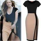Sexy Women's Celeb Bodycon Business Stitching Cocktail Prom Party Slit Dress