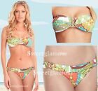 $152 Trina Turk Santa Cruz 2 Pc Buckle Bandeau Top & Buckle Bottom Bikini Set