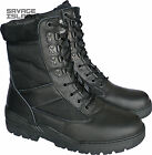 Black Army Combat Patrol Boots Tactical Cadet Military Security - Half Leather