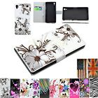 Stand Flip Wallet Leather Phone Skin Soft Rubber Case Cover For Sony Xperia Z2