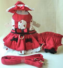 Dog Harness Dress, Hat, Leash, Panty - DAISY BUG - XS-L