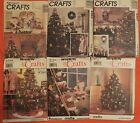VTG 90s CHRISTMAS PATTERNS Crochet Ornaments~Tree Skirt~Santa Dolls~Stockings++!