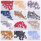 Wholesale 100/500pcs 4mm Faceted Round Glass Crystal Finding Loose Spacer Beads