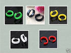 5 Color Plastic Hoop Huggie Round Circle Earrings Men Women Fashion Jewelry
