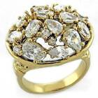 LOA967PB PEAR OVAL ROUND  CZ RING CUBIC ZIRCONIA 18KT FANCY ANIQUED WOMENS