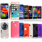 For Various Mobile Phones S Line Wave Gel Silicone Back Skin Case Cover+Stylus