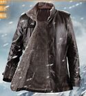 Fashion Men's Fur Stand Collar Wind Break Thick winter Jacket PU Leather Coat