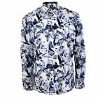 1 LIKE NO OTHER SHIRT MENS BLUE GEOMETRIC FLORAL