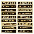AWMA® MARTIAL ARTS LEADERSHIP PATCHES - karate taekwondo patch