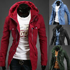Fashion wave of men winter essential and long sections Slim hooded jacket-UK HF