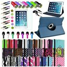 New 360 Rotating Folio Stand Smart Leather Case Cover For Apple iPad Air 5th 5