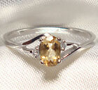 Genuine Faceted Oval Citrine .925 Sterling Silver Ring -- CT801