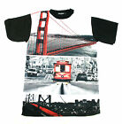 KONFLIC SAN FRANCISCO BAY AREA T SHIRT  SHIRT SUN OUT GUNS OUT URBAN MENS