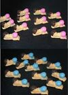 Baby Shower 12 mini babies baby cake decoration table item boy girl FREE POST
