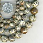 "NEW DALMATIAN JASPER Round Beads 16"" strand You Select Size 6-8-10-12mm"