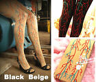 Punk Style Halloween Party Evil Horrific Blood Vesse Pantyhose Tights #P45