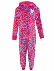 M&S Girls soft pink fleece Minnie Mouse onesie with hood NEW age 6 - 16