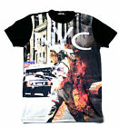 KONFLIC CITY IN FLAMES URBAN IMAGES  T SHIRT SUBLIMATED SUBLIMATION MEN'S $29.99