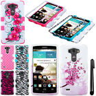 For LG G3 D850 Impact TUFF HYBRID Rubber HARD Case Phone Cover Accessory + Pen