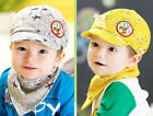 Unisex Kids Baby Boy Girl Baseball Sun cap Peaked Beret Beanie HatTriangle Scarf
