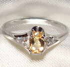 Genuine Faceted Oval Citrine .925 Sterling Silver Ring -- CT803