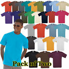 Mens 2 Pack Fruit of the Loom Valueweight T Shirt-28 tshirt Colours