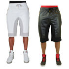 Akademiks Men's Boxter Perforated Faux Leather Drawstring Shorts