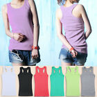 Womens Sleeveless Tank Tops Cami No Sleeve Sexy T-Shirt Bottoming Camisole Vest