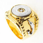18k Gold Plated Dolphin Wedding Men Ring R163
