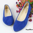 Women Casual ballet flat boat slip-on pointy toe soft sole shoes UKHF