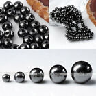 4/6/8/10/12mm Magnetic Hematite Loose Round Charms Beads For Necklace Bracelet