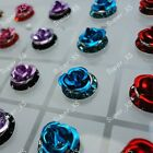 24pcs-72pcs Wholesale Jewelry  rose Stainless steel Stud Earrings free shipping