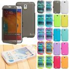 Wallet Flip TPU Silicone Gel Case Cover For Samsung Galaxy S3 S4 Note 2 3