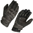 AKITO SUMMER BREEZE BLACK LEATHER BREATHABLE MOTORCYCLE CRUISER MOTORBIKE GLOVES