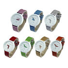 Fashion WaMaGe 9642 Ladies Women Stripes Strap Round Dial Wrist Watch New GFY