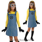 CK260 Girls Female Minion Despicable Me 2 Child Fancy Dress Up Costume Outfit