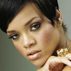 Super Star Rihanna Style Stainless Steel Chunky Rings w Large Big Huge CZ Stone