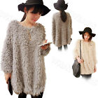 Elegant Graceful Women's Pullover Loose Casual Dress Hairy Sweater HUK