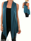 Teal Lace Back Drape/Scarf Tunic Cover Sleeveless Vest S/M/L