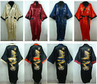 Hot Sale Unisex Double-Face Reversible Kimono Robe/Gown Embroidery Dragon Sleepw