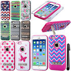 For Apple iPhone 6 4.7 inches VERGE Metal Stand HYBRID HARD Case Cover + Pen